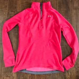 Underarmour storm hot pink thermal sweater